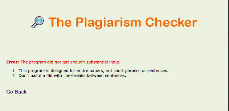 thesis checking plagiarism