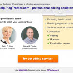 Would-be Princeton staff as editors for PlagTracker