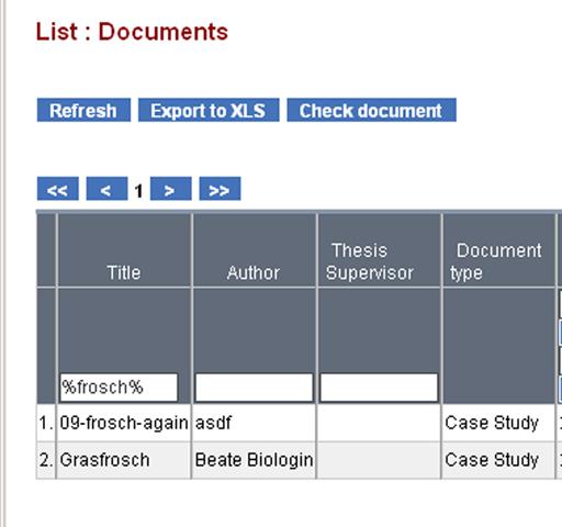 Suche nach Dokumenten