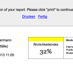 German and English mixed up on one page in Turnitin