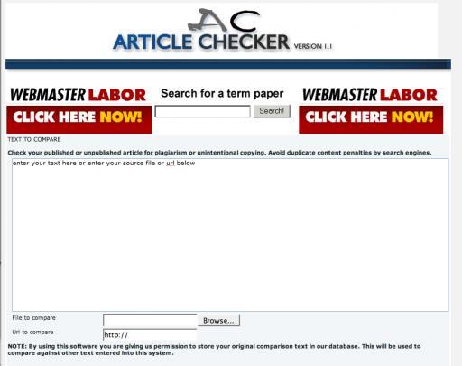 ArticleChecker (WebmasterLabor)