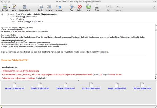 Bericht Email