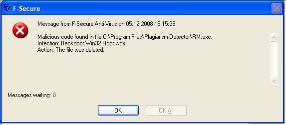 Der Install-Datei ist mit einer Trojaner infiziert.