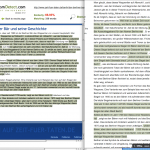 PlagiarismDetect flags fewer sentences as plagiarism in the report view (right) than on the highlighted webpage (left)