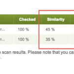 Results in PlagiarismDetect differ depending on whether a user chooses standard or premium quality